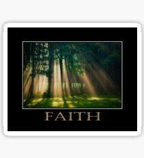 Faith Inspirational Art Sticker