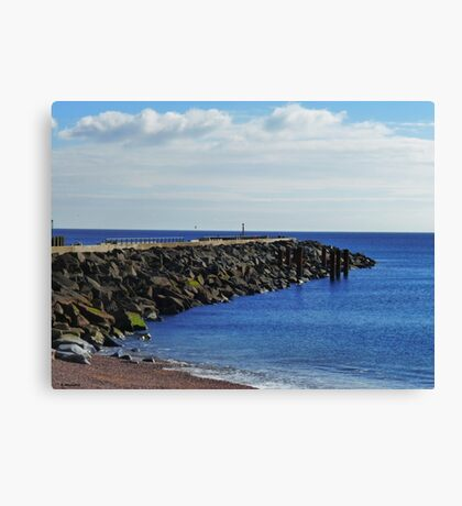 Outside the Harbour at West Bay, Dorset Canvas Print