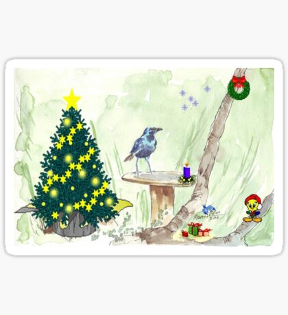 The Starling and Christmas in Africa Sticker