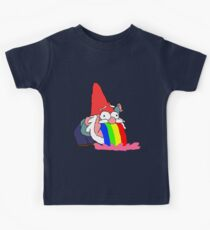 Gnome puking happiness - Gravity Falls Kids Tee