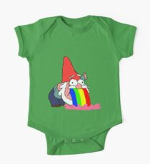 Gnome puking happiness - Gravity Falls One Piece - Short Sleeve