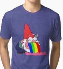 Gnome puking happiness - Gravity Falls Tri-blend T-Shirt