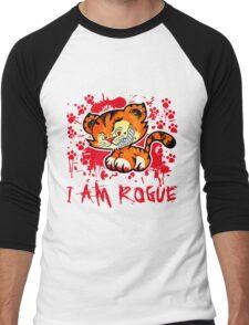 RogueTiger.com - Smirk Red (light) Men's Baseball ¾ T-Shirt