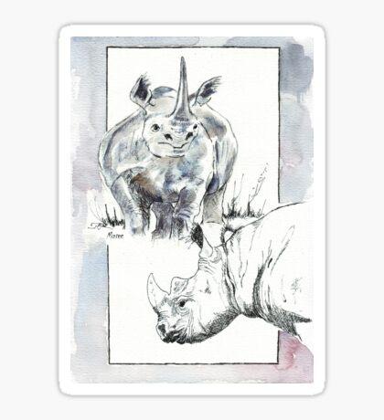 Rhino Study - The Unpardonable Crime Sticker