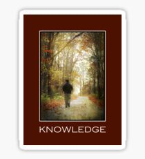 Knowledge Inspirational Art Sticker