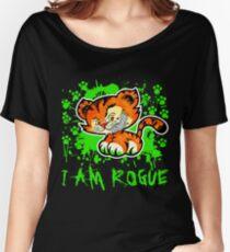 RogueTiger.com - Smirk Green (dark) Women's Relaxed Fit T-Shirt