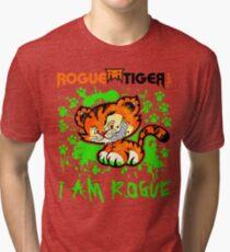 RogueTiger.com - Smirk Logo Green (light) Tri-blend T-Shirt