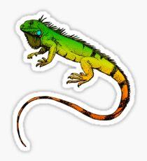 Pegatina Iguana verde