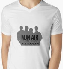 MJN Air - Charter Airdot Mens V-Neck T-Shirt