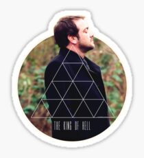 Hipster Crowley Sticker