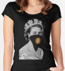 Queen Bitcoin Bandit Geek Women's Fitted Scoop T-Shirt