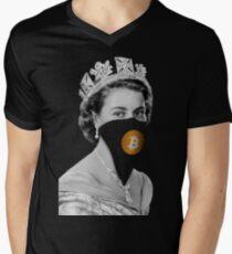 Queen Bitcoin Bandit Geek Men's V-Neck T-Shirt