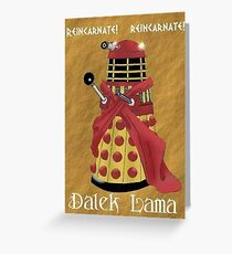 Dalek Lama Greeting Card