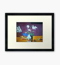 The Dahlia Tree Framed Print