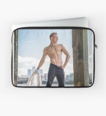Muscle Beauty at Low Tide with Daniel, shirt in hand Laptop Sleeve