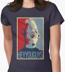 """Sloth from The Goonies - """"Hey You Guys"""" Womens Fitted T-Shirt"""