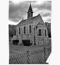 Port Royal Abbey in Black & White Poster