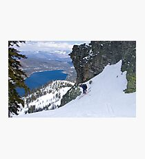 Lake Run to Donner Lake - Donner Summit Photographic Print