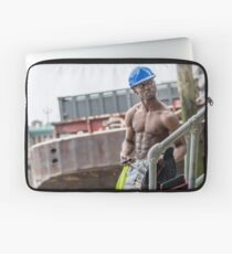 Workman at Low Tide on the Thames River with Frank Laptop Sleeve