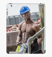 Workman at Low Tide on the Thames River with Frank iPad Case/Skin