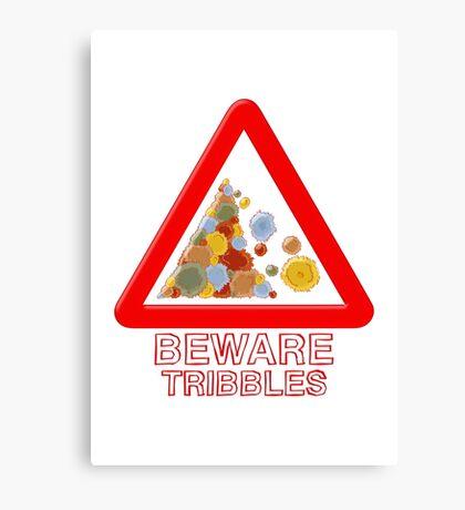 Warning triangle Canvas Print
