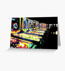 Pinball Arcade Greeting Card