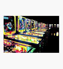 Pinball Arcade Photographic Print