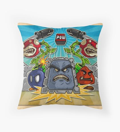 8-Bit Nightmare Throw Pillow