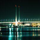 Lit Bridge & Water by MichaelCouacaud