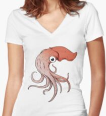 Squidly Women's Fitted V-Neck T-Shirt