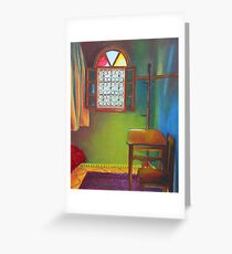 Room with chair Greeting Card