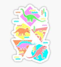 Nineties Dinosaurs Pattern Sticker
