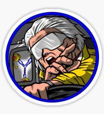 Time Travel Racer 2 Doc Version Sticker