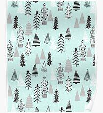 Christmas Forest - Light Blue b Andrea Lauren  Poster