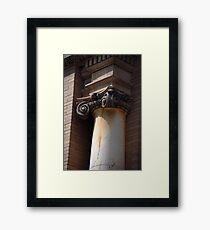 """""""A vertical shaft or.... Framed Print"""