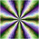 10 Cones in Green and Purple by Objowl