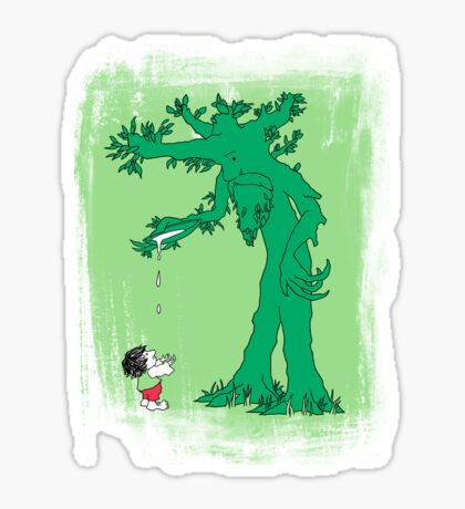 The Giving Treebeard on Lime Sticker