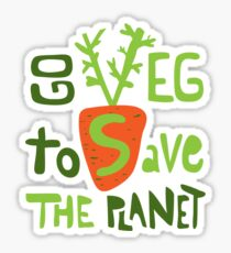 Go veg to save the planet Sticker