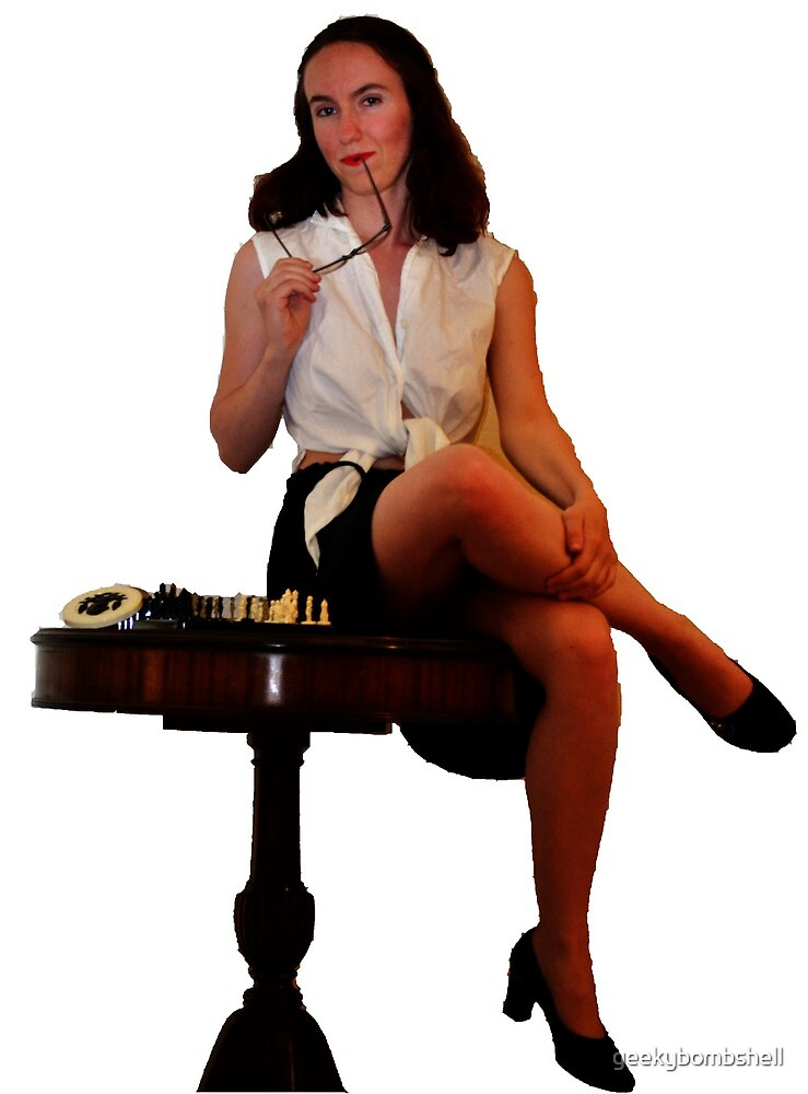 Geeky Pin-Up: Chess by geekybombshell