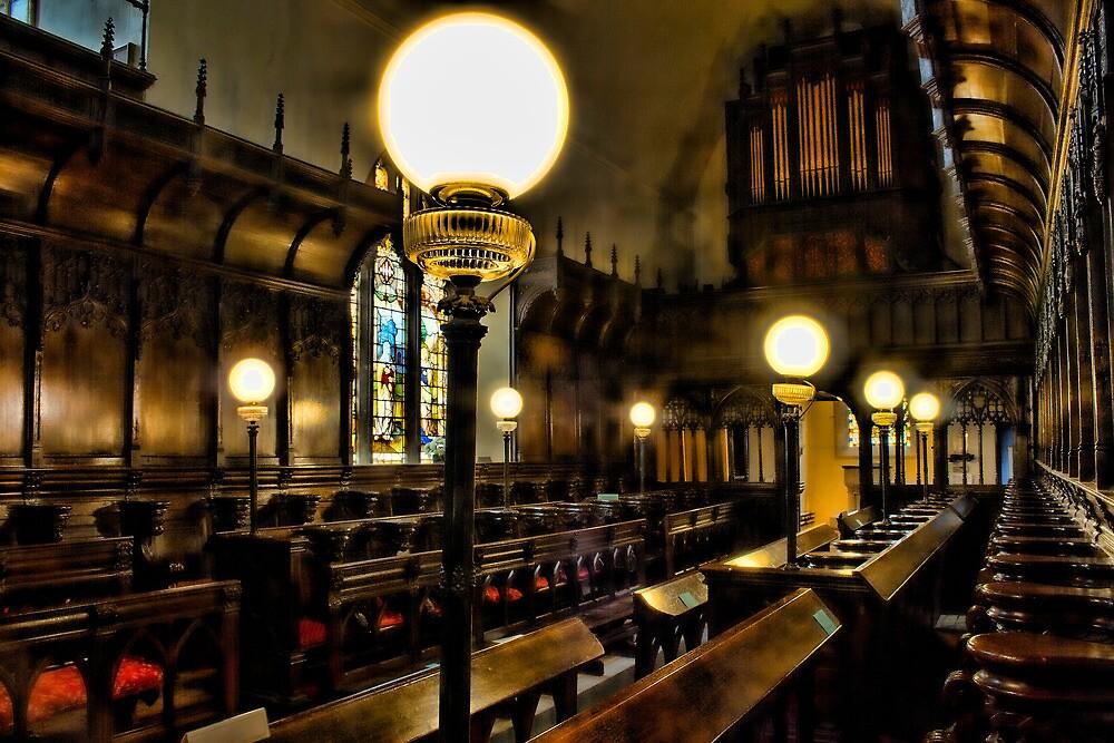 Gaslights In Gatton Church by Dave Godden