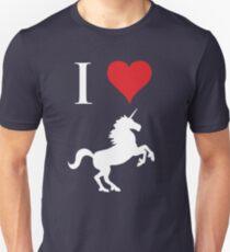 Ich liebe Einhörner Unisex T-Shirt