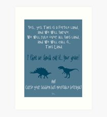 curse your sudden but inevitable betrayal, firefly, blue Art Print