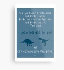 curse your sudden but inevitable betrayal, firefly, blue Metal Print