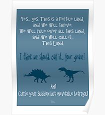 curse your sudden but inevitable betrayal, firefly, blue Poster
