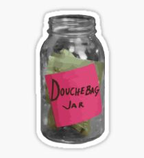 Douchebag Jar - New Girl Sticker