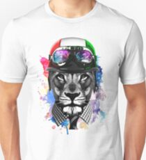 Lion Scooterist Unisex T-Shirt
