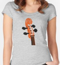 Cello Scroll VRS2 Women's Fitted Scoop T-Shirt