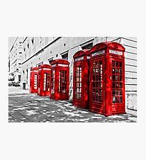 London Telephone Boxes. Photographic Print