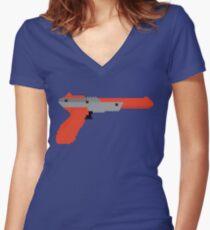 8 bit zapper Women's Fitted V-Neck T-Shirt