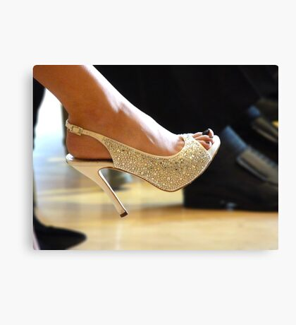 Wedding Heels Canvas Print